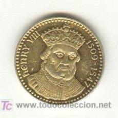 Medallas históricas: MEDALLA ENRIQUE VIII INGLATERRA EN PLATA PESO: 4'6 GRAMOS 21 MM.. Lote 23348745