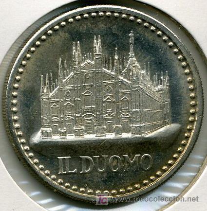 JUAN PABLO II - IL DUOMO - MEDALLA PLATA 34 MM (Numismática - Medallería - Histórica)
