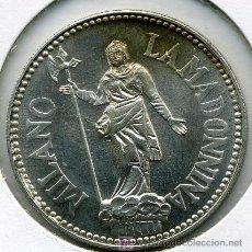 Medallas históricas: JUAN PABLO II - LA MADONNINA- MILANO- MEDALLA PLATA 34 MM . Lote 27438383