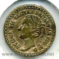 Medallas históricas: VICTORIA DEI GRATIA- 1875 . DIAMETRO 15MM. MEDALLA METAL DORADO. Lote 27472310