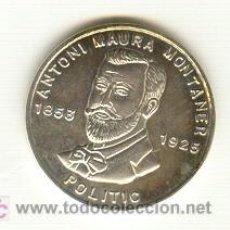 Medallas históricas: PRECIOSA MEDALLA PLATA ANTONIO MAURA MUNTANER ACUÑADA EN MALLORCA AÑO 1995. MODULO: 21 MM. Lote 24989728