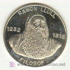 Medallas históricas: PRECIOSA MEDALLA PLATA FILOSOFO RAMÓN LLULL ACUÑADA EN MALLORCA AÑO 1995. MODULO: 30 MM. Lote 24989727