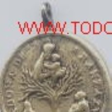 Medallas históricas: MEDALLA MADONA DE ARANZAZU.ROMA.SIGLO XVIII O ANTERIOR. Lote 5691209