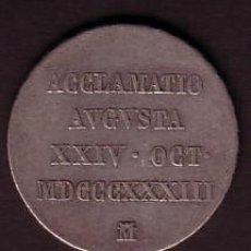 Medallas históricas: MEDALLA PLATA PROCLAMACION DE ISABEL II ** AÑO 1833 ** ACUÑADA EN MADRID. Lote 25393704