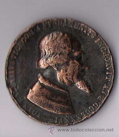 JOAN GALEATIVS VICECOM A FVNDAMENTIS INCHOAVIT ANM CCLXXXVI (Numismática - Medallería - Histórica)