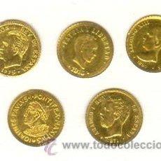 Medallas históricas: INTERESANTE LOTE CINCO PEQUEÑAS MEDALLAS JUAN PABLO I, CUBA, JUAN CARLOS I, AMADEO I, ALFONSO XIII. Lote 25189465