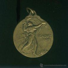 Medallas históricas: MEDALLA DE BRONCE BELGICA 1909. Lote 15621848