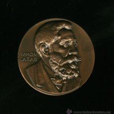 Medallas históricas: MEDALLA DE RAMON CASAS - 70 ANIVERSARIO QUATRE GATS. Lote 26168825
