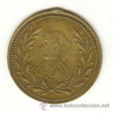 Medallas históricas: RARA MEDALLA DIÁMETRO: 36 MM. ZARINA RUSIA ANILLA QUITADA. Lote 24306972