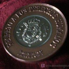 Medallas históricas: MEDALLA CONMEMORATIVA DE LA REINCORPORACION INTERNACIONAL DE ESPAÑA - RESPETO A LOS DERECHOS HUMANOS. Lote 27510851