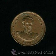 Medallas históricas: MEDALLA DE COBRE - GENERAL JUAN LAVALLE 1897. Lote 19800237