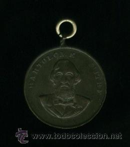 MEDALLA DE COBRE - BARTOLOME MITRE (Numismática - Medallería - Histórica)
