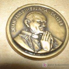 Medallas históricas: BONITA MEDALLA VISITA JUAN PABLO II A SALAMANCA 1982. DIAMETRO 3,8 CTM. Lote 26529042