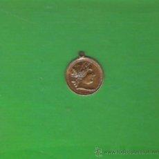 Medallas históricas: RARA COLGANTE DE MEDALLA/MONEDA DE ISABEL II EN DORADO . Lote 20400615
