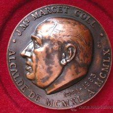 Medallas históricas: RARA MEDALLA J. Mª MARCET COLL 1901- 1963 ALCALDE DE SABADELL XIX- III- MCMLXXIV FIRMA PUJOL. Lote 14302080