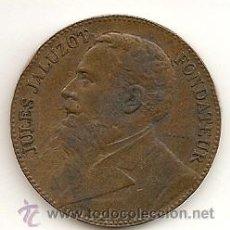 Medallas históricas: GRAN MEDALLA -JULES JALUZOT FONDATEU AU PRINTEMPS 25 ANIVERSARIO 1865-1890 (COBRE) EBC-. Lote 26667886