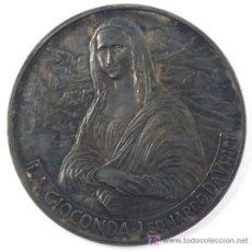 Medallas históricas: OPERA MAXIMA IN SAECULIS, LA GIOCONDA, LOENARDO DA VINCI. 5 CM. DIÁMETRO.. Lote 15930772