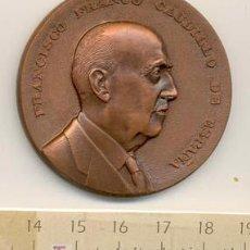 Medallas históricas: FRANCISCO FRANCO CAUDILLO DE ESPAÑA. FUNDACIÓN NACIONAL. PRIMER ANIVERSARIO-1976. Lote 24644365