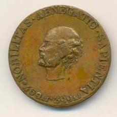 Medallas históricas: BUSTO DE SÓCRATES. NOBILITAS ABNEGATIO SAPIENTIA . ROCHE- 1896. . Lote 27015684