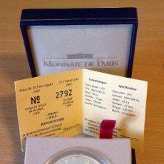 Medallas históricas: MEDALLA DE PLATA, CON ESTUCHE Y CERTIF. GARANTÍA, BRILLO ESPEJO Y MATE, INTACTA, FRANCIA 98, 10 FR. . Lote 27489286