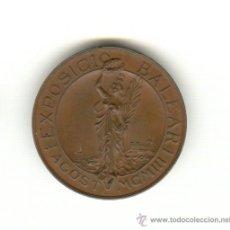 Medallas históricas: 1903 PRECIOSA MUY RARA MEDALLA EXPOSICIÓN BALEAR 82'3 GMS. PALMA MAHÓN MENORCA IBIZA 150 EJEMPLARES. Lote 24534934