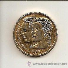 Medallas históricas: MUY CURIOSA Y ESCASA MEDALLA-BODA REAL JAIME Y ELENA 1995 ( MUY BONITO REVERSO SEVILLA ) COBRE. MBC+. Lote 27414659