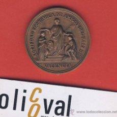 Medallas históricas: MEDALLA-BRONCE-SOCIEDAD ECINOMICA AMIGOS DEL PAIS.-VALENCIA-1776-MDCCCLXXVI-1876-FIRMADA-. Lote 19398489