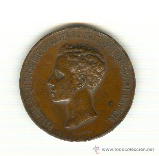 1-1902 ENORME MEDALLA MAYORÍA DE EDAD ALFONSO XIII DIÁMETRO: 60 MM. PESO 91 GRAMOS GRABADOR: B.MAURA (Numismática - Medallería - Histórica)