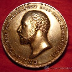 Medallas históricas: MEDALLA DE EDUARDO VII DE INGLATERRA.PLATA. Lote 21794511