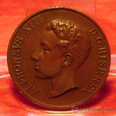 Medallas históricas: MEDALLA MAYORIA DE EDAD DE ALFONSO XIII. Lote 21827601