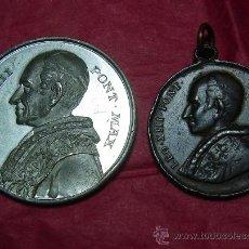 Medallas históricas: LOTE DOS MEDALLAS DE LEON XIII. Lote 22545017