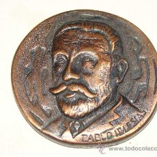 Medallas históricas: PABLO IGLESAS MEDALLA UGT MALAGA, CENTENARIO. 1888 1988. POLÍTICO / SINDICAL. FUNDADOR PSOE. . Lote 23650839