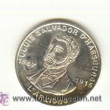 PRECIOSA MEDALLA PLATA ARCHIDUQUE LUIS SALVADOR ACUÑADA EN MALLORCA AÑO 1995. MODULO: 21 MM (Numismática - Medallería - Histórica)