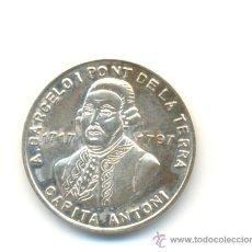 Medallas históricas: PRECIOSA MEDALLA PLATA CAPITÀ ANTONI BARCELÓ ACUÑADA EN MALLORCA AÑO 1995. MODULO: 21 MM. Lote 24019011