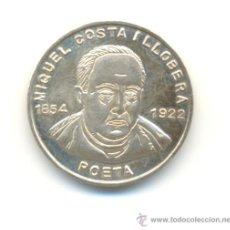 Medallas históricas: PRECIOSA MEDALLA PLATA POETA MIQUEL COSTA Y LLOBERA ACUÑADA EN MALLORCA AÑO 1995. MODULO: 21 MM. Lote 24019043