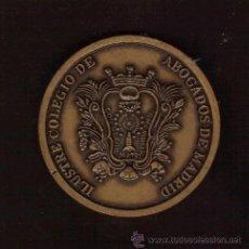 Medallas históricas: PRECIOSA MEDALLA CONMEMORATIVA DEL 4º CENTENARIO DEL ILUSTRE COLEGIO DE ABOGADOS DE MADRID. Lote 26697282