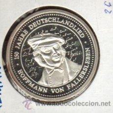 Medallas históricas: PRECIOSA MEDALLA DE PLATA CONMEMORATIVA LOS 150 AÑOS DE HOFFMANN VON FALLERSLEBEN VER FOTOS. Lote 27022412