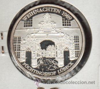 PRECIOSA MEDALLA DE PLATA CONMEMORATIVA DE LA CIUDAD DE LUBECK ALEMANIA VER FOTOS (Numismática - Medallería - Histórica)
