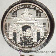 Medallas históricas: PRECIOSA MEDALLA DE PLATA CONMEMORATIVA DE LA CIUDAD DE LUBECK ALEMANIA VER FOTOS. Lote 27326864
