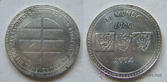 MONEDA CONMEMORATIVA DE EL MUNDO 1989-2004 (EDITADA POR EL PERIODICO EL MUNDO (Numismática - Medallería - Histórica)