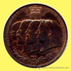 Medallas históricas: INGLATERRA - ENGLAND -MEDALLA 60 ANIVERSARIO DEL REINADO DE VICTORIA . 1897. Lote 26376656