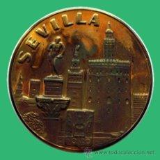 Medallas históricas: MEDALLA RELIGIOSA . VISITA A ESPAÑA DE JUAN PABLO II . SEVILLA . 1982. Lote 27150346