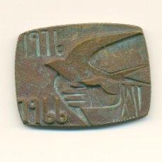 Medallas históricas: BERGA MEDALLA RECORD CINQUANTENARI CORONACIÓ VERGE DE QUERALT 1916-1966. Lote 28203382