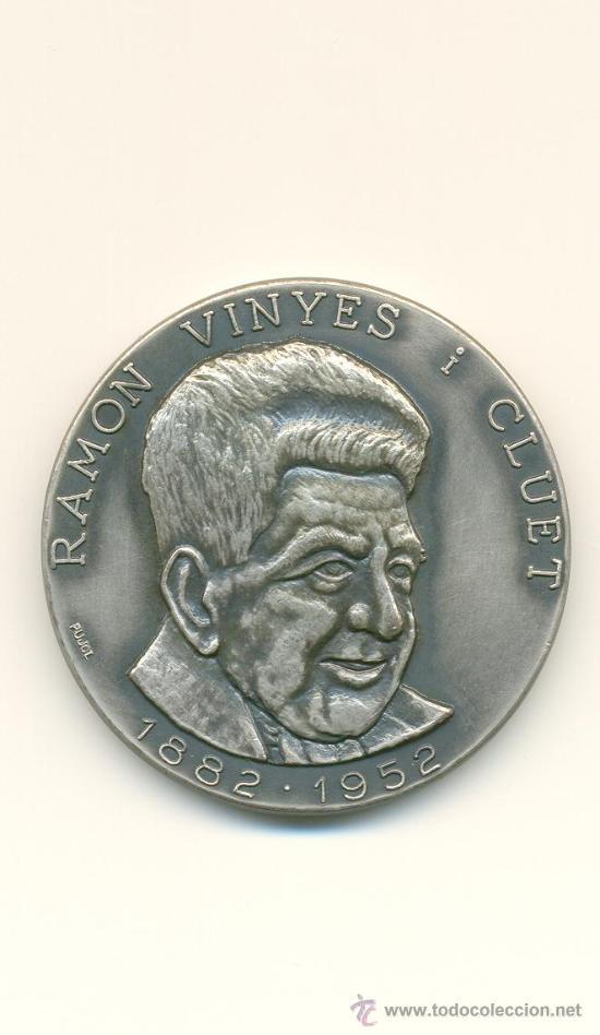 BERGA MEDALLA RECORD CENTENARI NAIXEMENT DE RAMON VINYES (Numismática - Medallería - Histórica)