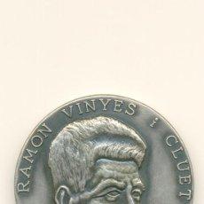 Medallas históricas: BERGA MEDALLA RECORD CENTENARI NAIXEMENT DE RAMON VINYES. Lote 27460550