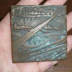 Medallas históricas: ANTIGUA PLACA CONMEMORATIVA DE POLONIA A IDENTIFICAR.. Lote 30383701