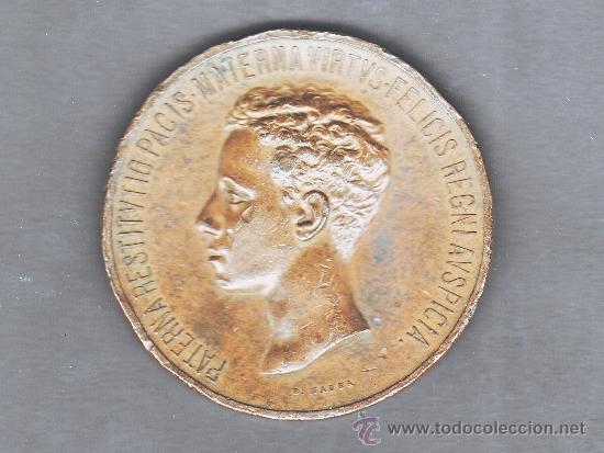 MEDALLA PROCLAMACION ALFONSO XIII - GRABADOR BARTOLOMÉ MAURA - TAL FOTOS (Numismática - Medallería - Histórica)