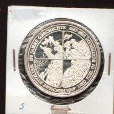 Medallas históricas: PRECIOSA MEDALLA DE PLATA CONMEMORATIVA DE LOS 150 AÑOS DE ESTA PEQUEÑA LOCALIDAD VER FOTOS. Lote 31330162
