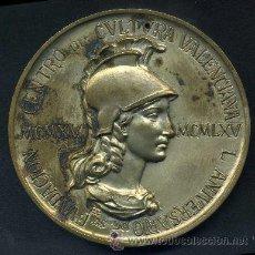 Medallas históricas: CENTRO DE CULTURA VALENCIANO - 1965 - ENRIQUE GINER - 50 ANº DE SU FUNDACION. Lote 32919922