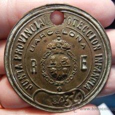 Medallas históricas: MEDALLA / INSIGNIA / DISTINTIVO. JUNTA PROVINCIAL PROTECCIÓN A LA INFANCIA. BARCELONA. ÉPOCA DE ALF. Lote 31555763